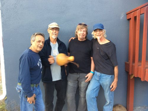 (L-R) KENNY PASSARELLI (Joe Walsh/Barnstorm, Hall & Oates, CSY, Dan Folgelberg, Elton John and many others), STEVE AMEDEE (the Subdudes), JOCK BARTLEY (Firefall & Gram Parsons) and JOHN MAGNIE (the Subdudes)